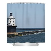 Harbor Of Refuge Lighthouse II Shower Curtain
