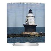 Harbor Of Refuge Lighthouse IIi Shower Curtain