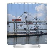 Harbor Rotterdam Shower Curtain