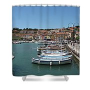 Harbor Scene Cassis  Shower Curtain