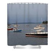 Harbor Scene I - Maine Shower Curtain