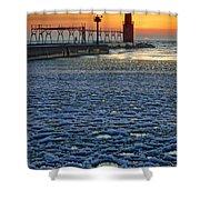 Harbor Slush Shower Curtain