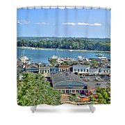 Harbor Springs Michigan Shower Curtain by Bill Gallagher