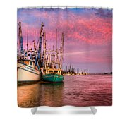 Harbor Sunset Shower Curtain