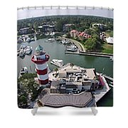 Harbor Town 1 In Hilton Head Shower Curtain