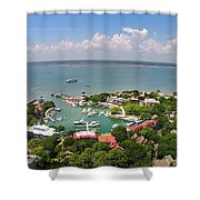 Harbor Town 3 In Hilton Head Shower Curtain
