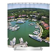 Harbor Town 6 In Hilton Head Shower Curtain
