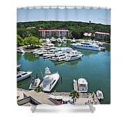 Harbor Town 7 In Hilton Head Shower Curtain