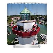 Harbor Town Lighthouse In Hilton Head Shower Curtain