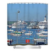 Harbour And Queen's Wharf - Falmouth Shower Curtain