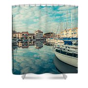 Harbour Of Grado Shower Curtain