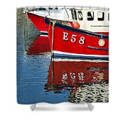 Harbour Reds Shower Curtain