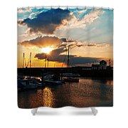 Harbour Sunset Shower Curtain