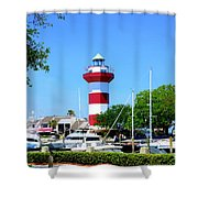 Harbour Town Lighthouse Shower Curtain