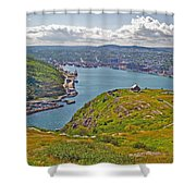 Harbour View From Signal Hill National Historic Site In Saint John's-nl Shower Curtain