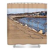 Harbour Wall Promenade Shower Curtain