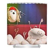 Hard Boiled Rock Concert Shower Curtain