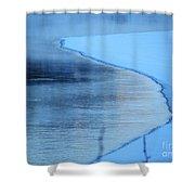 Hard Demarcation Shower Curtain
