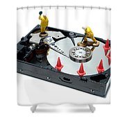 Hard Drive Repair Shower Curtain