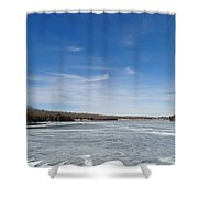 Hard Frozen Lake Shower Curtain