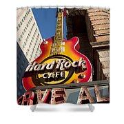 Hard Rock Cafe Guitar Sign In Philadelphia Shower Curtain