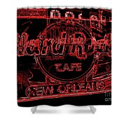 Hard Rock Cafe Nola Shower Curtain