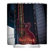 Hard Rock Guitar Nyc Shower Curtain
