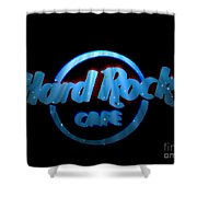 Hard Rock Neon In Space Shower Curtain