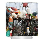 Hard Working Buoys Shower Curtain