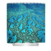 Hardy Reef On The Great Barrier Reef Marine Shower Curtain