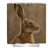 Hare Portrait I Shower Curtain