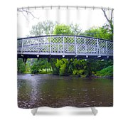 Hares Hill Road Bridge Shower Curtain