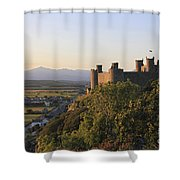 Harlech Castle Wales Shower Curtain