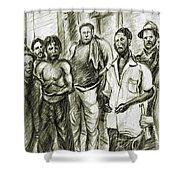 Harlem Guys - New York Art Shower Curtain