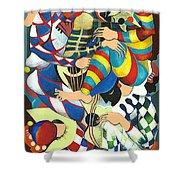 Harlequins Acting Weird - Why?... Shower Curtain