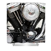 Harley Chrome And Steel Shower Curtain
