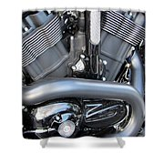 Harley Close-up Engine Close-up 1 Shower Curtain