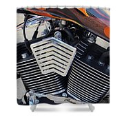 Harley Close-up Orange Flame Shower Curtain