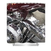 Harley Close-up Possessed Shower Curtain