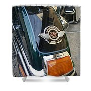Harley Close-up Tail Light Shower Curtain