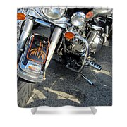 Harley Close-up W Shadow 1 Shower Curtain