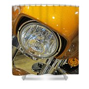 Harley Close-up Yellow 2 Shower Curtain