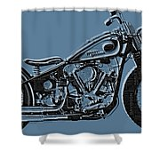 Harley-davidson And Words Shower Curtain
