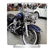 Harley Davidson Detail Shower Curtain