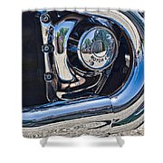 Harley Davidson Engine Shower Curtain
