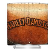 Harley Davidson Leather Tool Bag  Shower Curtain