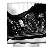 Harley Davidson  Military  Shower Curtain