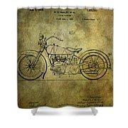 Harley Davidson Motorbike Patent  Shower Curtain