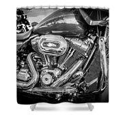 Harley Davidson Motorcycle Harley Bike Bw  Shower Curtain