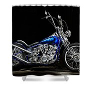 Harley-davidson Panhead Chopper From The Wild Angels Shower Curtain